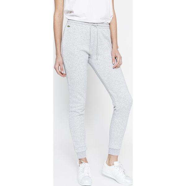 2146254869bb8a Lacoste - Spodnie - Szare legginsy damskie Lacoste, bez wzorów, z ...