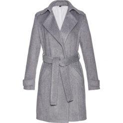 Płaszcz trencz Premium z materiału z domieszką wełny bonprix szary melanż. Płaszcze damskie marki FOUGANZA. Za 269.99 zł.