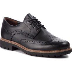 Półbuty CLARKS - Batcombe Wing 261271927  Black Leather. Czarne półbuty na co dzień męskie Clarks, z materiału. W wyprzedaży za 369.00 zł.