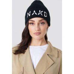 NA-KD Accessories Czapka NA-KD - Black. Czarne czapki i kapelusze damskie NA-KD Accessories, z dzianiny. W wyprzedaży za 34.27 zł.