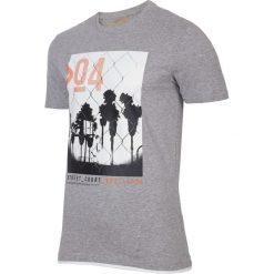 T-shirt męski  TSM004 - chłodny jasny szar. Szare t-shirty męskie 4f, z bawełny. W wyprzedaży za 44.99 zł.