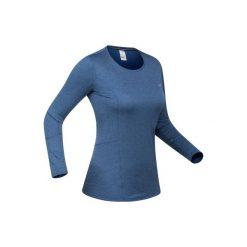 Koszulka narciarska 500 damska. Niebieskie t-shirty damskie WED'ZE, z materiału. Za 49.99 zł.