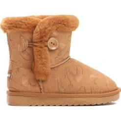 Camelowe Śniegowce Stormily. Brązowe buty zimowe dziewczęce Born2be, z materiału. Za 79.99 zł.
