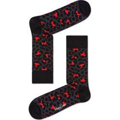 Happy Socks - Skarpetki Leopard. Czarne skarpety damskie Happy Socks. Za 39.90 zł.
