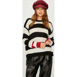 Answear - Sweter. Szare swetry damskie ANSWEAR, z dzianiny, z okrągłym kołnierzem. Za 99.90 zł.