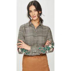 Answear - Koszula. Szare koszule damskie ANSWEAR, z haftami, z materiału, z długim rękawem. Za 99.90 zł.
