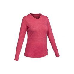 Koszulka długi rękaw TRAVEL 500 wełna damska. T-shirty damskie marki DOMYOS. Za 84.99 zł.