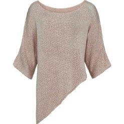 Sweter dzianinowy bonprix beżowy. Brązowe swetry damskie bonprix, z dzianiny. Za 119.99 zł.