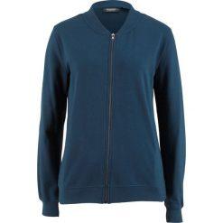 Bluza rozpinana z kołnierzykiem w stylu college bonprix ciemnoniebieski. Bluzy damskie marki KALENJI. Za 59.99 zł.
