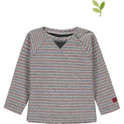 Koszulka w kolorze szarym. Szare bluzki dla dziewczynek bellybutton, w paski, z bawełny, z okrągłym kołnierzem. W wyprzedaży za 37.95 zł.