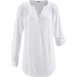 Tunika, długi rękaw bonprix biały. Białe tuniki damskie bonprix, z długim rękawem. Za 74.99 zł.