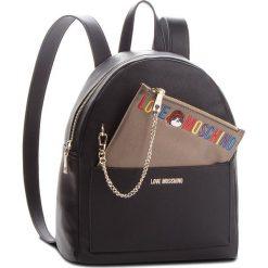 Plecak LOVE MOSCHINO - JC4277PP06KK0000 Nero. Czarne plecaki damskie Love Moschino, ze skóry ekologicznej, eleganckie. Za 959.00 zł.