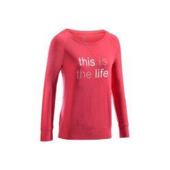Koszulka Gym 500. Czerwone t-shirty damskie DOMYOS, z bawełny, z długim rękawem. W wyprzedaży za 27.99 zł.
