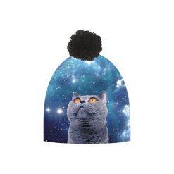 Czapka hauer GALAXY CAT. Niebieskie czapki i kapelusze damskie Hauer, z polaru. Za 69.00 zł.