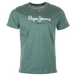 Pepe Jeans T-Shirt Męski Eggo Xxl Zielony. Zielone t-shirty męskie Pepe Jeans, z jeansu, dekolt w kształcie v. Za 125.00 zł.