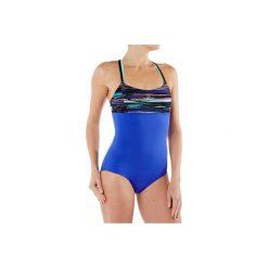 Strój jednoczęściowy do aquafitness Meg Stri damski. Niebieskie kostiumy jednoczęściowe damskie NABAIJI. W wyprzedaży za 39.99 zł.