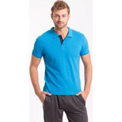 Koszulka polo męska TSM051z - niebieski jasny. Koszulki polo męskie marki INESIS. Za 69.99 zł.