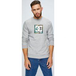 DC - Bluza. Szare bluzy męskie DC, z nadrukiem, z bawełny. W wyprzedaży za 219.90 zł.