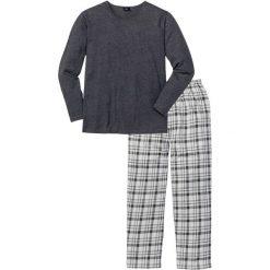 Piżama bonprix antracytowy melanż w kratę. Szare piżamy męskie bonprix, melanż. Za 74.99 zł.