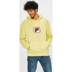Fila - Bluza. Szare bluzy męskie Fila, z aplikacjami, z bawełny. W wyprzedaży za 279.90 zł.