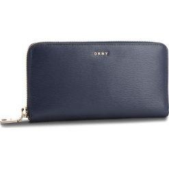 Duży Portfel Damski DKNY - Bryant New Zip Around R8313658 Navy NVY. Niebieskie portfele damskie DKNY, ze skóry. Za 549.00 zł.