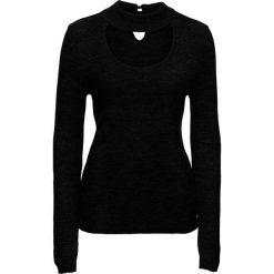 Sweter ze stójką bonprix czarny. Swetry damskie marki bonprix. Za 89.99 zł.