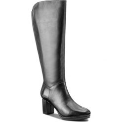 Kozaki CLARKS - Kelda Pearl 261267284 Black Leather. Czarne kozaki damskie Clarks, z materiału. W wyprzedaży za 439.00 zł.
