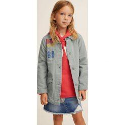 Mango Kids - Kurtka dziecięca Dicy 110-164 cm. Szare kurtki i płaszcze dla dziewczynek Mango Kids, z bawełny. W wyprzedaży za 69.90 zł.