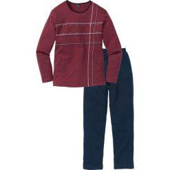 Piżama bonprix ciemnoniebiesko-bordowy. Czerwone piżamy męskie bonprix. Za 69.99 zł.