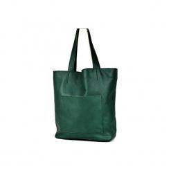Duża skórzana torba Hobo. Zielone torby na laptopa damskie Pracownia6-9, ze skóry. Za 250.00 zł.
