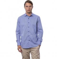 Koszula w kolorze chabrowym. Niebieskie koszule męskie Roberto Cavalli, Trussardi, z klasycznym kołnierzykiem. W wyprzedaży za 199.95 zł.