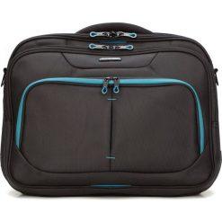 Torba na laptopa 56-3S-633-1D. Czarne torby na laptopa męskie Wittchen, w paski, z poliesteru. Za 359.00 zł.