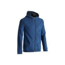 Bluza na zamek z kapturem Gym & Pilates 500 męska. Niebieskie bluzy męskie DOMYOS. W wyprzedaży za 54.99 zł.