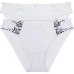 Figi (2 pary) bonprix biały + biało-czarny. Figi damskie marki KALENJI. Za 55.98 zł.