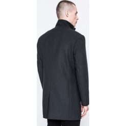 Selected - Płaszcz. Czarne płaszcze męskie Selected, z materiału, klasyczne. W wyprzedaży za 439.90 zł.