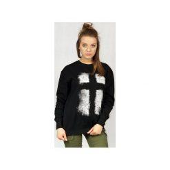 Bluza UNDERWORLD casual Krzyż. Czarne bluzy damskie Underworld, z nadrukiem, z bawełny. Za 119.99 zł.