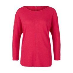 S.Oliver T-Shirt Damski 40 Czerwony. Czerwone t-shirty damskie S.Oliver, z okrągłym kołnierzem. W wyprzedaży za 69.00 zł.