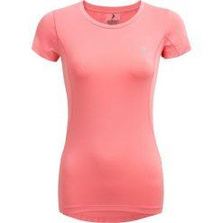 Koszulka treningowa damska TSDF601 - łososiowy - Outhorn. Czerwone bluzki damskie Outhorn, z materiału. W wyprzedaży za 39.99 zł.