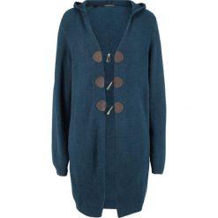 Długi sweter rozpinany z kapturem bonprix ciemnoniebieski. Kardigany damskie marki bonprix. Za 129.99 zł.