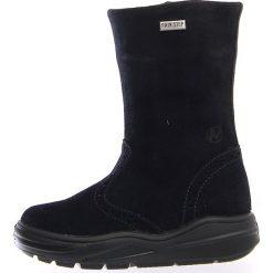 """Skórzane kozaki zimowe """"Corti"""" w kolorze granatowym. Buty zimowe dziewczęce Zimowe obuwie dla dzieci. W wyprzedaży za 252.95 zł."""
