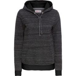 Bluza z kapturem, długi rękaw bonprix czarno-biały melanż. Bluzy damskie marki KALENJI. Za 59.99 zł.