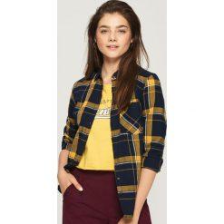 Koszula w kratę - Żółty. Żółte koszule damskie Sinsay. W wyprzedaży za 29.99 zł.