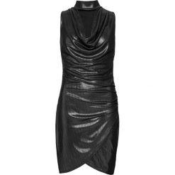 Sukienka bonprix czarny. Czarne sukienki damskie bonprix, glamour. Za 129.99 zł.
