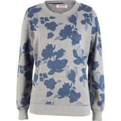 Bluza z nadrukiem, długi rękaw bonprix jasnoszary melanż. Bluzy damskie marki KALENJI. Za 74.99 zł.