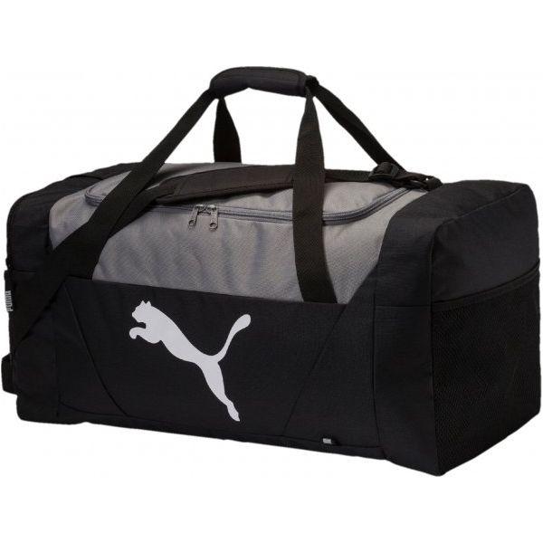 5c8bc8a4fd3d1 Puma Torba Sportowa Fundamentals Sports Bag M Black - Torby podróżne ...
