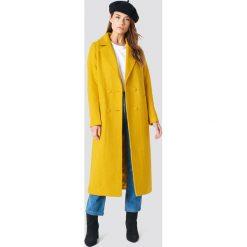 NA-KD Dwurzędowy płaszcz - Yellow. Żółte płaszcze damskie NA-KD. Za 364.95 zł.