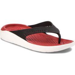 Japonki CROCS - Literide Flip 205182 Black/White. Czarne klapki damskie Crocs, z materiału. Za 189.00 zł.