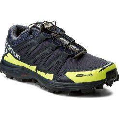 Buty SALOMON - Speedspike Cs 394475 27 W0 Navy Blazer/Reflective Silver/Lime Punch. Niebieskie buty sportowe męskie Salomon, na zimę, z materiału. W wyprzedaży za 459.00 zł.