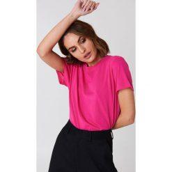 NA-KD Basic T-shirt oversize - Pink. Różowe t-shirty damskie NA-KD Basic, z bawełny. W wyprzedaży za 21.18 zł.