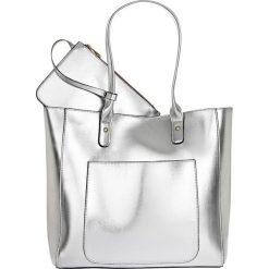 Torba shopper metaliczna bonprix srebrny kolor. Szare torebki shopper damskie bonprix. Za 79.99 zł.